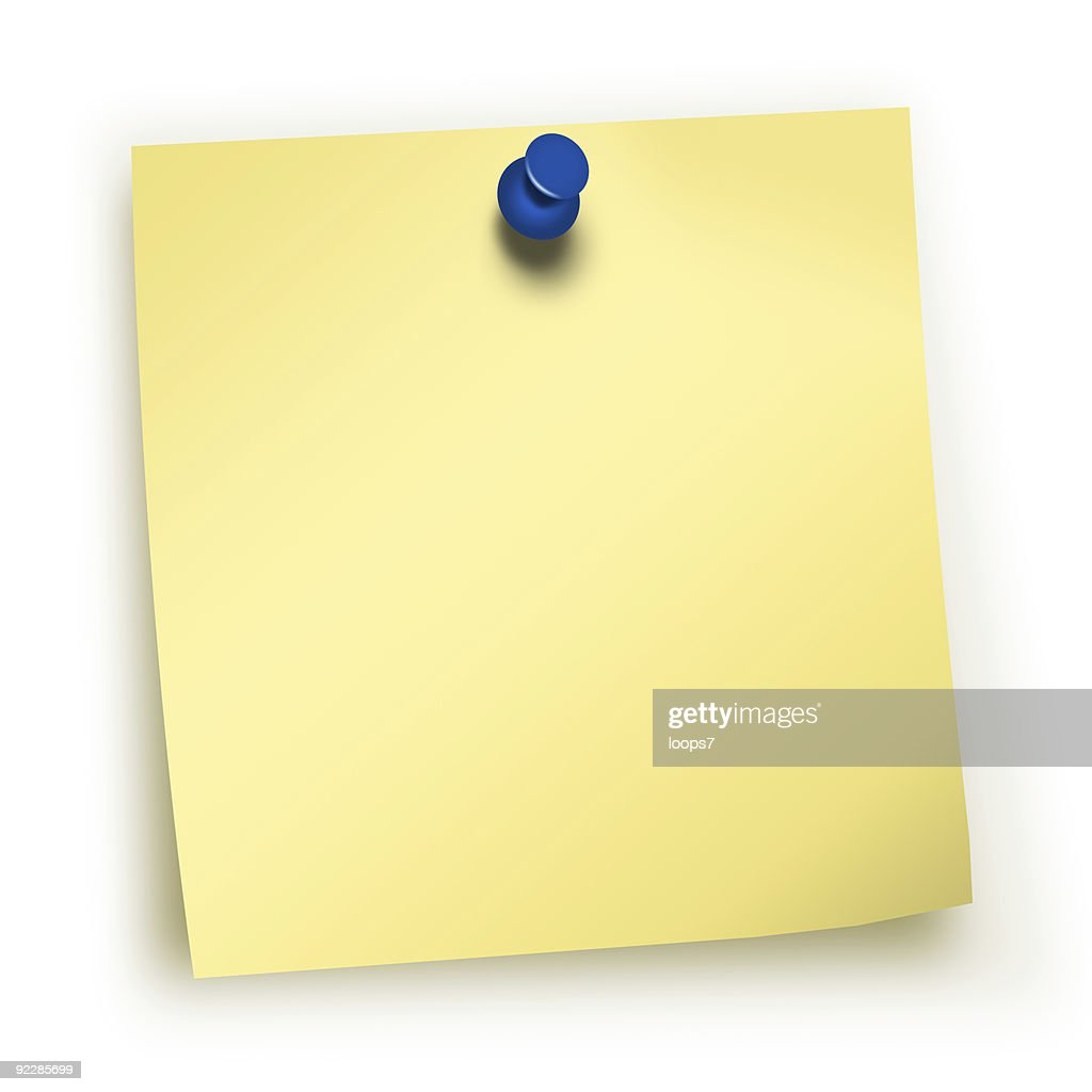 sticky note : Stock Photo