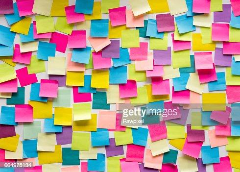 Sticky Note Post It Board Office : Foto de stock