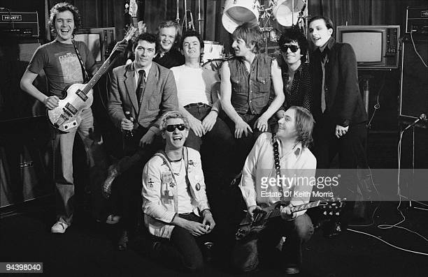 Stiff Records sign a record deal with English punk band The Damned and another group 1977 The Damned members are Brian James Rat Scabies Captain...