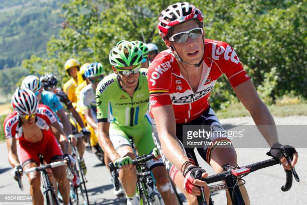 Stig Broeckx of Belgium and Team Lotto in action during the fifth stage of the Criterium du Dauphine on June 12 2014 between Sisteron and La Mure...