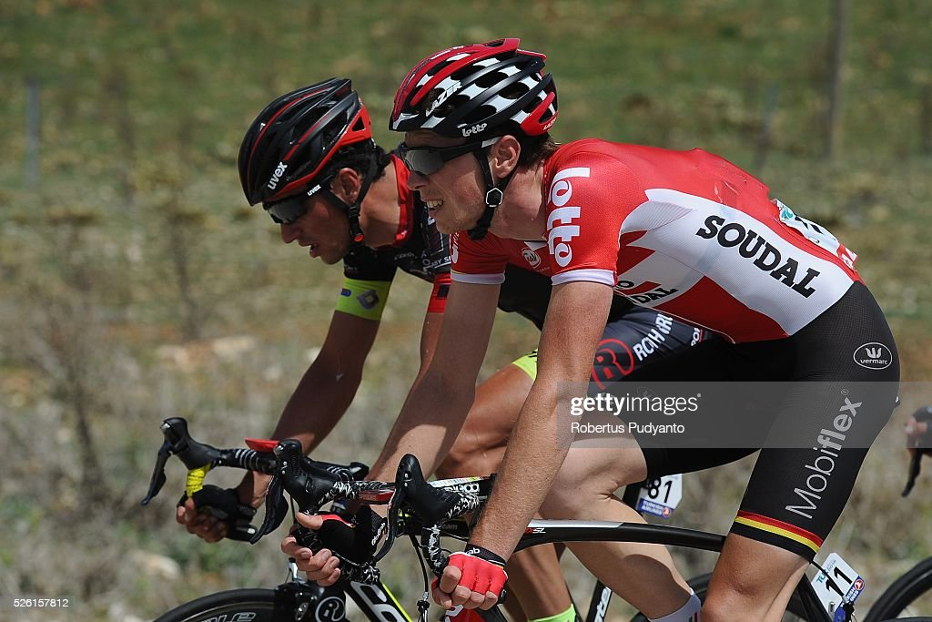 <a gi-track='captionPersonalityLinkClicked' href=/galleries/search?phrase=Stig+Broeckx&family=editorial&specificpeople=12891460 ng-click='$event.stopPropagation()'>Stig Broeckx</a> of Lotto Soudal (#11) competes during Stage 6 of the 2016 Tour of Turkey, Kumluca to Elmali (117 km) on April 24, 2016 in Kumluca, Turkey.