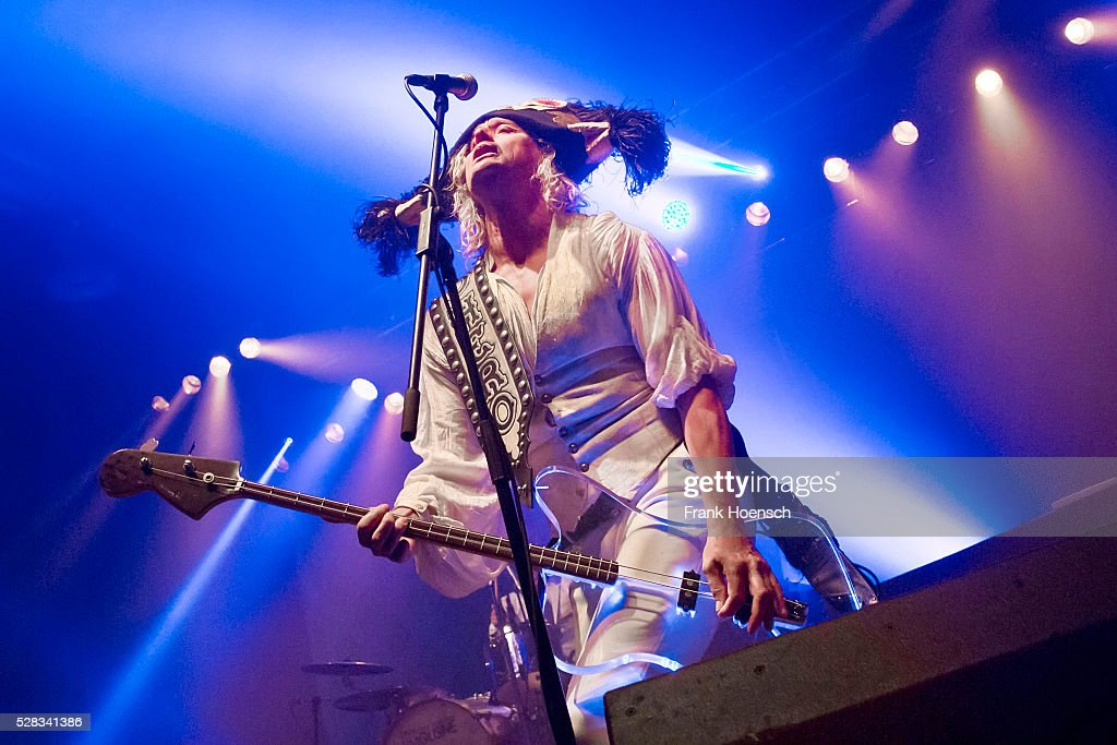 Stig Pedersen of the Danish band D-A-D performs live during a concert at the Huxleys on May 4, 2016 in Berlin, Germany.