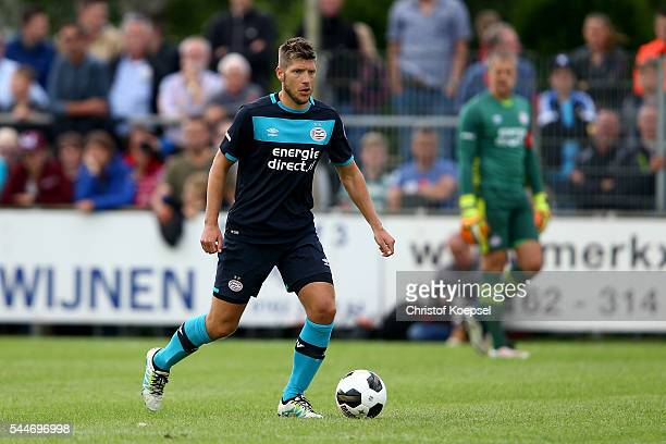 Stijn Schaars of Eindhoven runs with the ball during the friendly match between VV Dongen and PSV Eindhoven at Sportpark de Bliezen on July 2 2016 in...