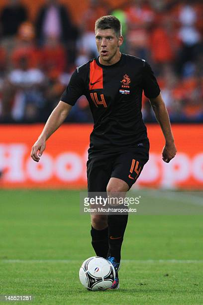 Stijn Schaars of Netherlands in action during the International Friendly between the Netherlands and Slovakia at De Kuip Stadion on May 30 2012 in...