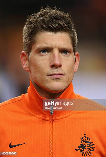 Stijn Schaars of Netherlands prior to the friendly International match between the Netherlands and Colombia at the Amsterdam Arena on November 19...