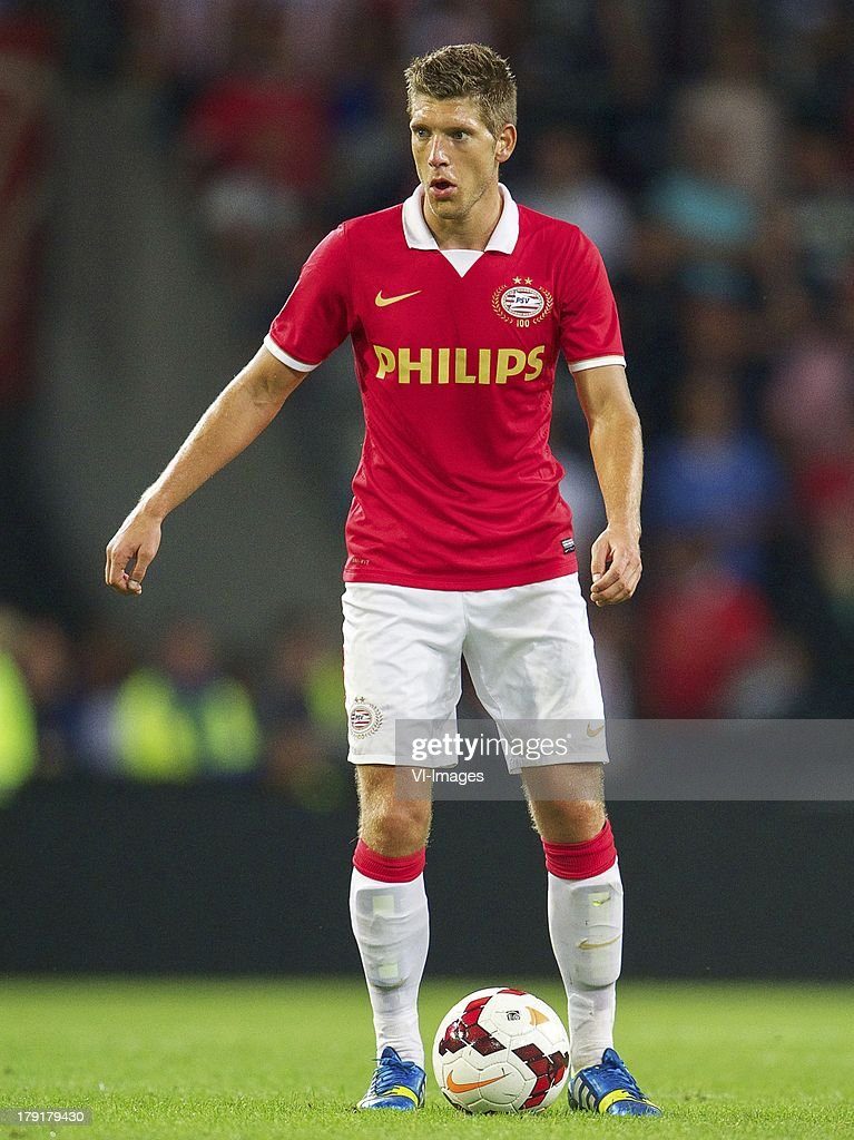 Stijn Schaars of PSV during the Dutch Eredivisie match between PSV and SC Cambuur at Philips stadium on August 31, 2013 in Eindhoven, The Netherlands.