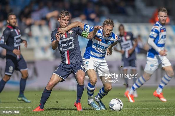 Stijn Wuytens of Willem II Alexander Bannink of De Graafschap during the Dutch Eredivisie match between De Graafschap and Willem II Tilburg at the...