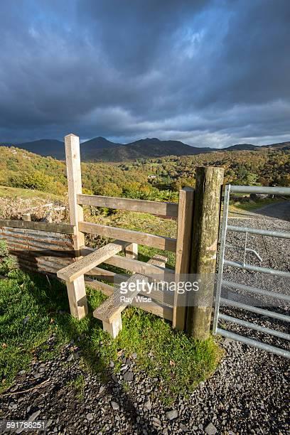 Stile on hike in Snowdonia