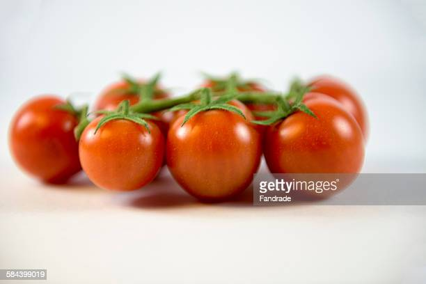 Still, cherry tomatoes with stem