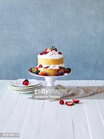 Still LIfe: Berry Cream Layer Cake
