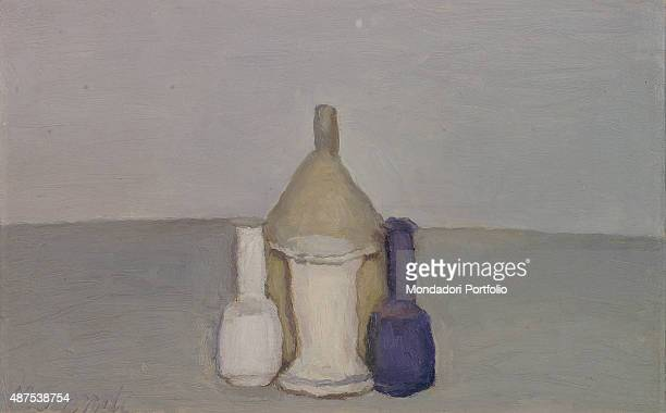 Still Life by Giorgio Morandi 20th Century oil on canvas Whole artwork view The painting belongs to a series of still lives with monochromatic...