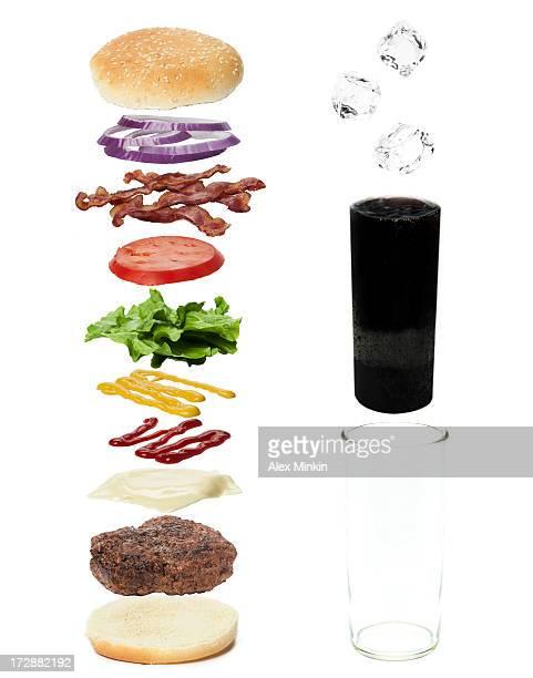 Still Life Exploded Hamburger Diagram