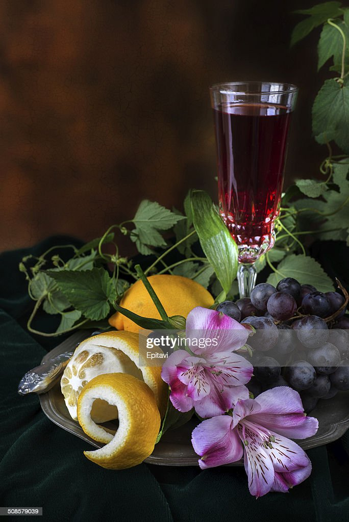 Still life in antique style : Stock Photo