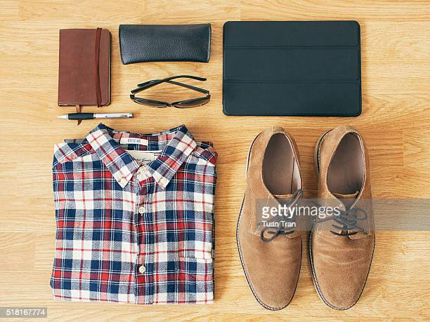 Still life items that represent young business person