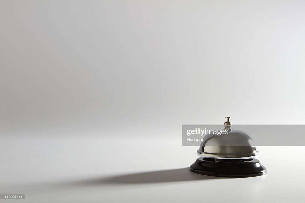 Still life of a service bell : Stock Photo