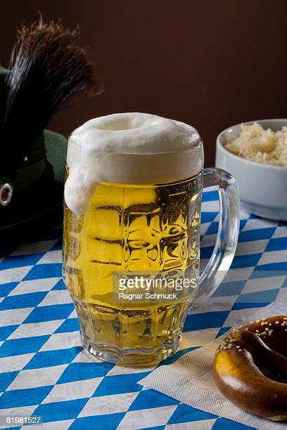 Still life of a stereotypical full German beer stein