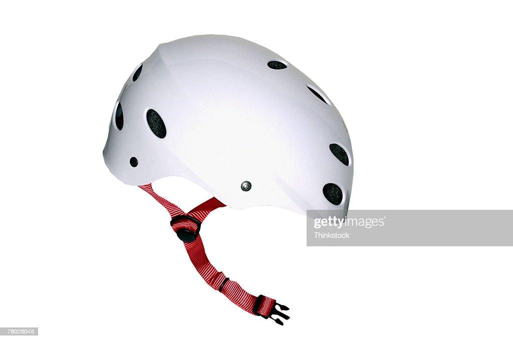 Still life of a white helmet.