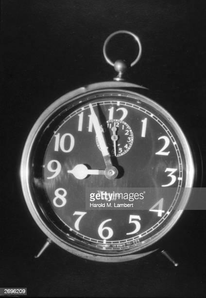Still life of an Westclox Big Ben alarm clock set at 856