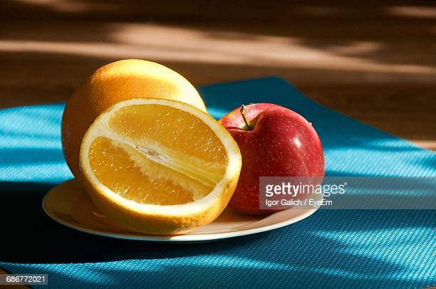 Still Life Of Fruit On A Plate