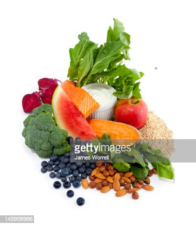 Still Life of healthy foods : Stock Photo