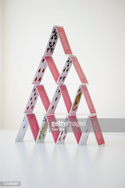 Still life of house of cards