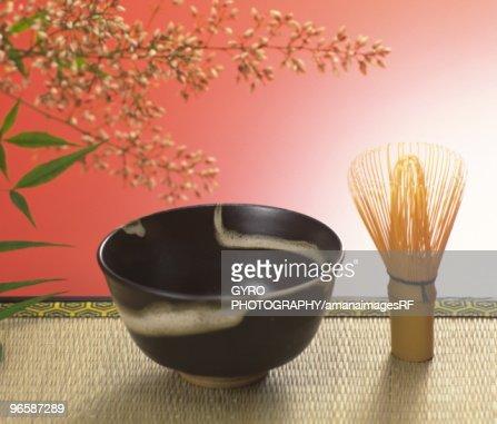 Still life of Japanese tea ceremony : Stock Photo
