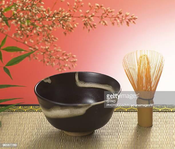 Still life of Japanese tea ceremony