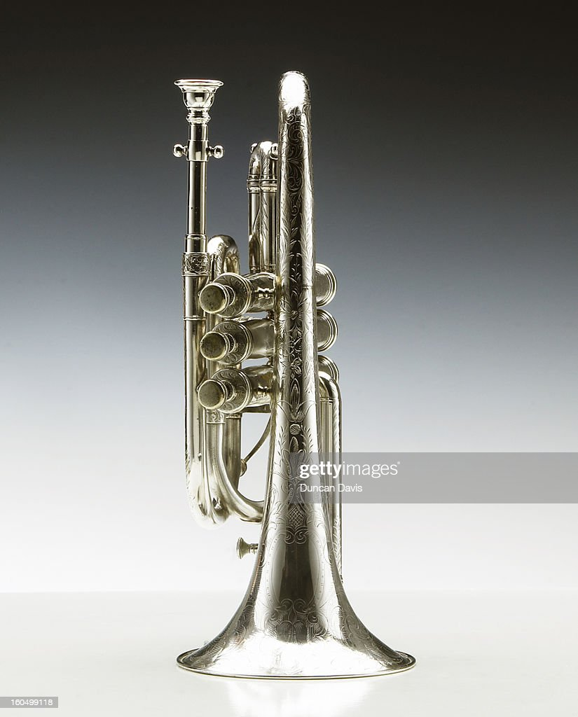 Still life of jazz trumpet : Stock Photo