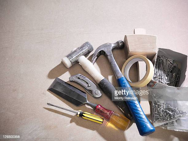 Still life of joinery tools