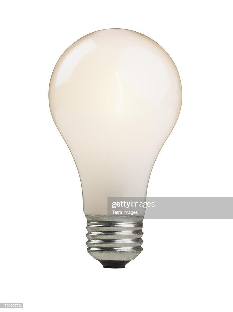 Still life of light bulb