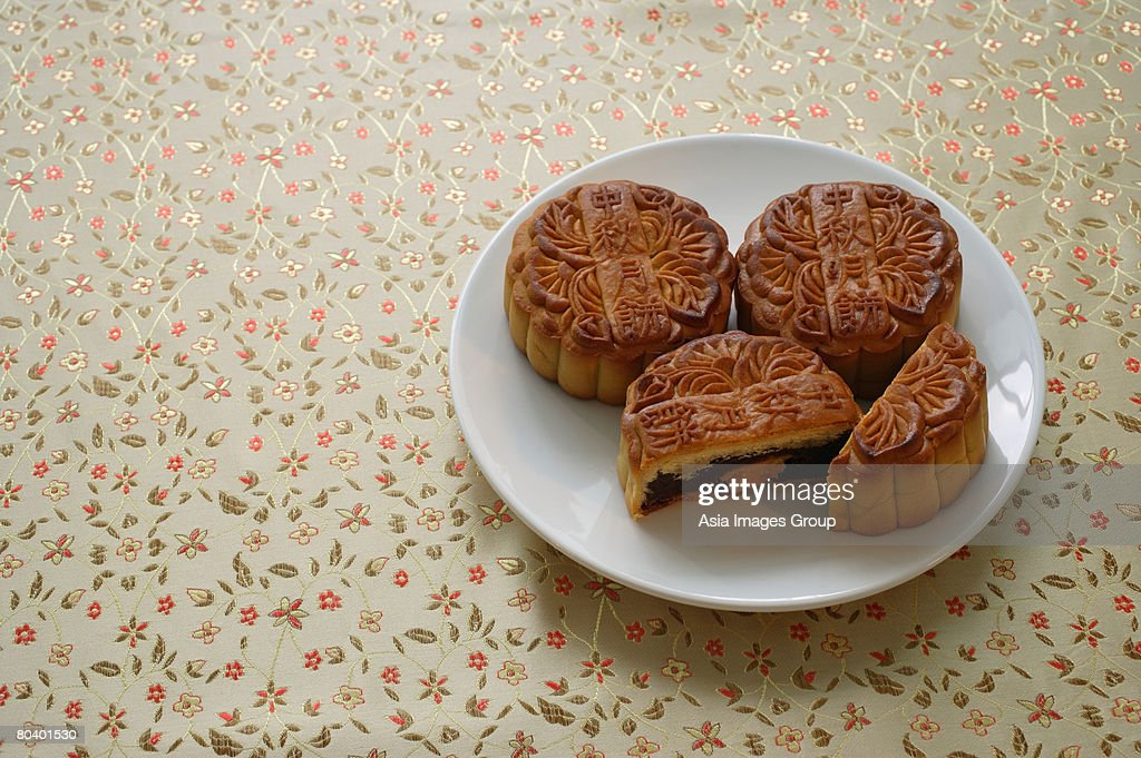 Still life of mooncakes : Stock Photo