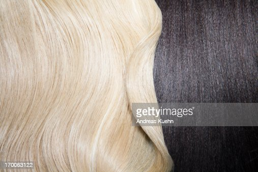 Still life of two different hair colors. : Stock Photo