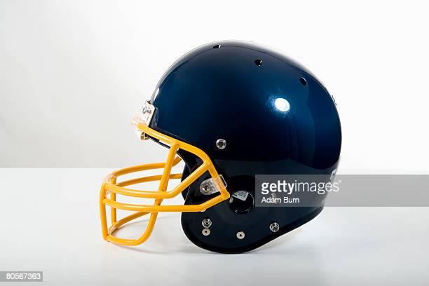 Still life studio shot of a American football helmet