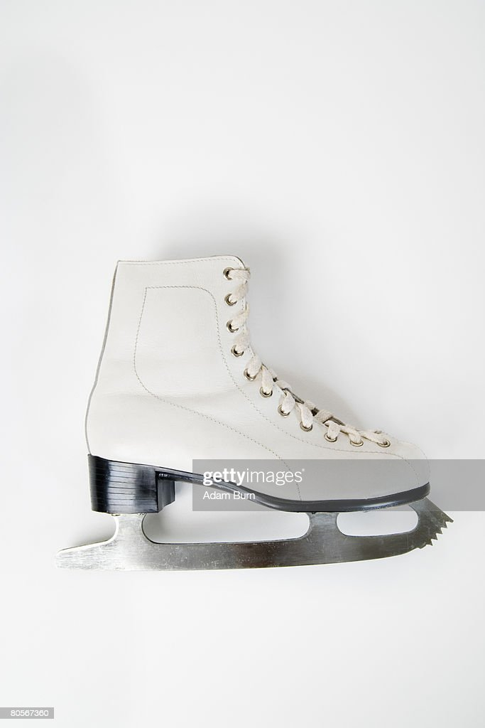 A still life studio shot of an ice skate