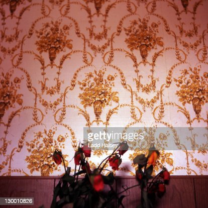 Still life wallpaper and dead roses : Stock Photo