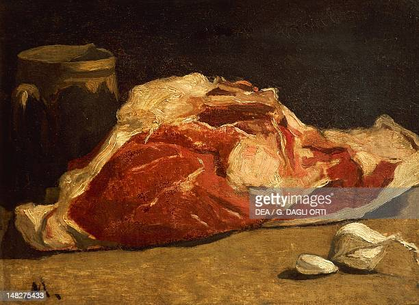 Still life with a quarter of meat by Claude Monet oil on canvas 24x33 cm Paris Musée D'Orsay