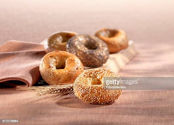 Still life with assorted bagels