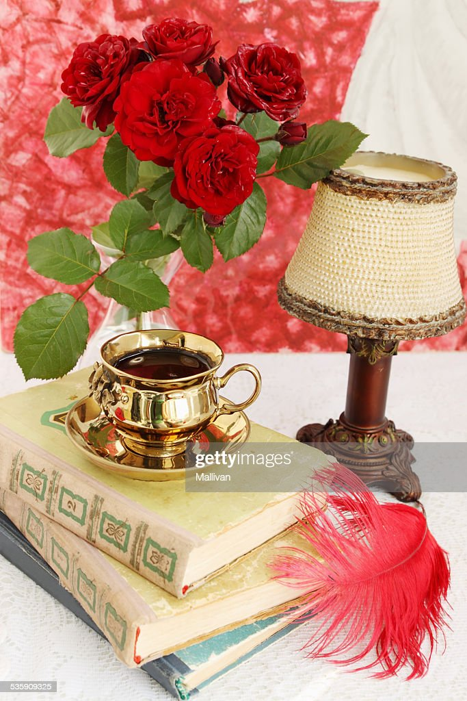still life with books : Stock Photo