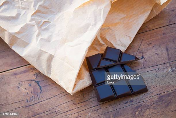 Still life with dark chocolate