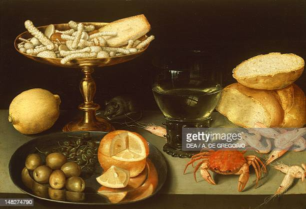 Still life with fruits and seafood by Peter Binoit