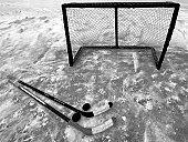 Still Life with Hockey Sticks