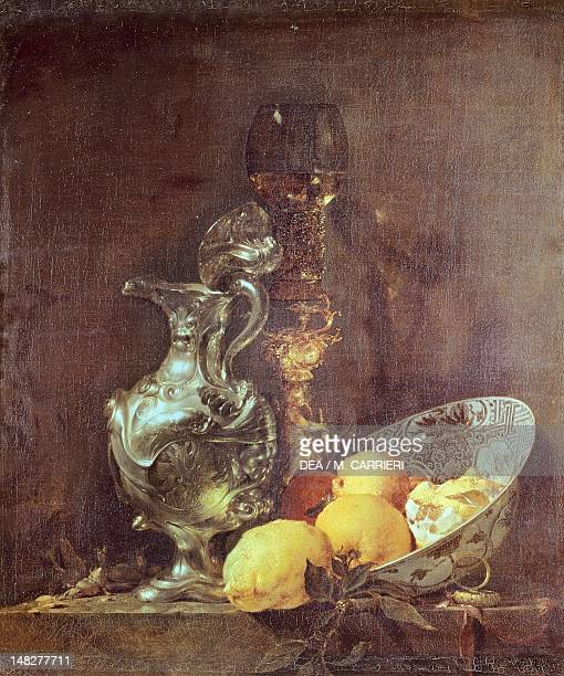 Still life with silver pitcher by Willem Kalf Amsterdam Rijksmuseum