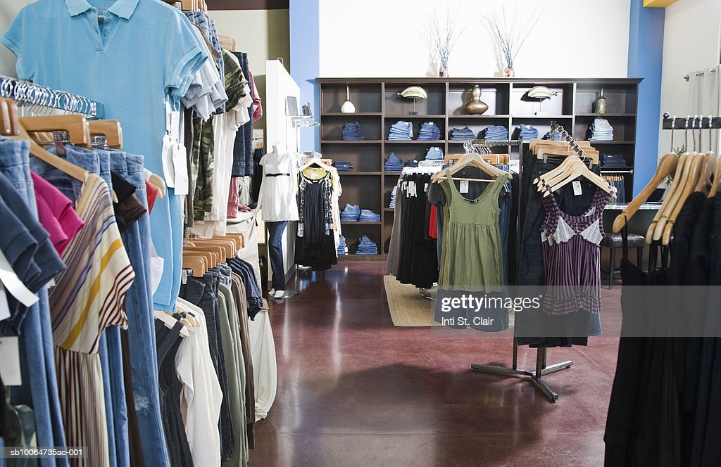 Still shot of clothing boutique : Stock Photo