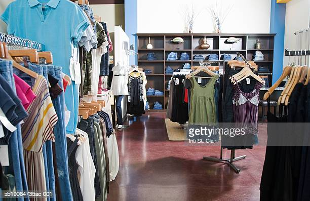 Still shot of clothing boutique