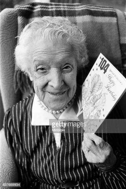 Still young at 104 One of the country's oldest residents revealed her secret for looking young this morning Mrs Gertrude Beaumont who celebrates her...