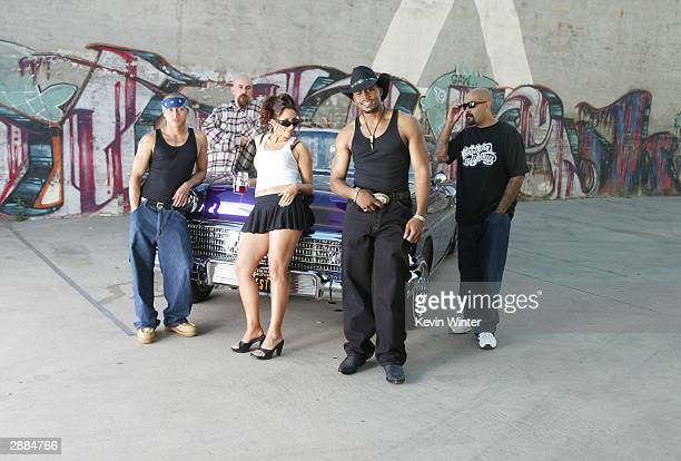 Stille of Nappy Roots poses on set of his music video 'Roun' The Globe' outside a loft June 18 2003 in Los Angeles California