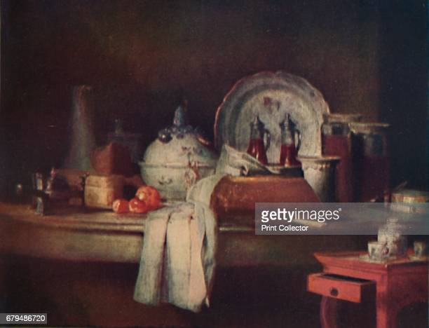 StillLife' 18th century From The French Genius by Haldane Macfall [T C and E C Jack London and Edinburgh 1911] Artist JeanSimeon Chardin