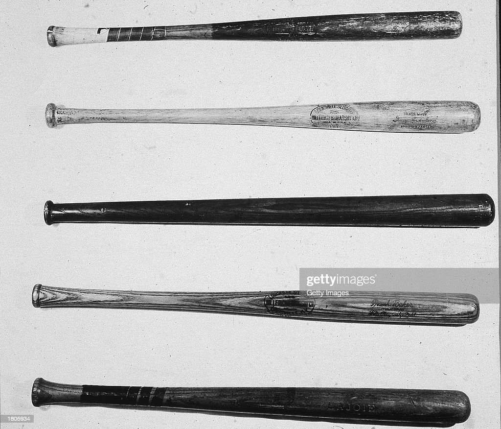 baseball bats of the famous pictures getty images