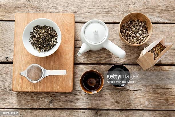 stilllife of making tea.