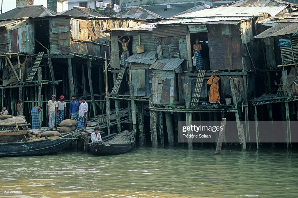 Stilt houses in Khulna